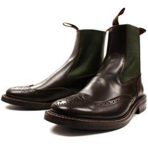 Locking Shoes ロッキングシューズ SIDEGORE WINGTIP BOOTS 917 ダークブラウン サイドゴア チェルシー footmonkey