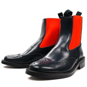 Locking Shoes ロッキングシューズ SIDEGORE WINGTIP BOOTS 917 ネイビー サイドゴア チェルシー footmonkey