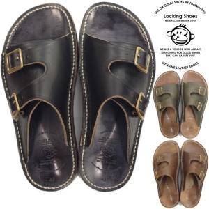Locking Shoes ロッキングシューズ by FootMonkey フットモンキー SDL-2FT サンダル メンズ レザー レザーサンダル ダブルモンクサンダル 日本製 footmonkey