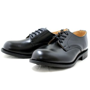 ラムジー RAMSEY 443 MILITARY PLAIN TOE OXFORD ブラック ミリタ...