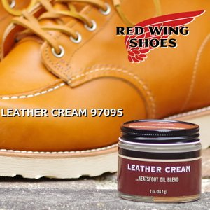 レッドウィング RED WING レザークリーム LEATHER CREAM 97095 ニーツフットオイルブレンド 【2oz(56.7g)】 Neatsfoot Oil Blend 純正ケア用品 シューケア|footmonkey