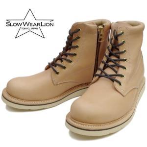 スローウェアライオン SLOW WEAR LION OB-8593GT ナチュラル ブーツ メンズ|footmonkey