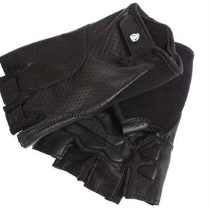 [ブリックレーンバイクス] BLBクラシック本革サイクリンググローブ BLB Classic Leather Cycling Glove オールブラック GLBB500|for-tune-shop