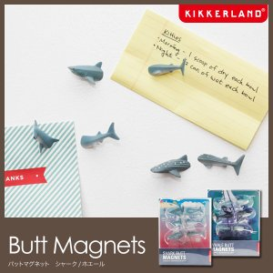 キッカーランド マグネット Butt Magnets バットマグネット 磁石 クジラ サメ kikkerland|foranew