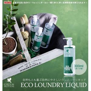 GREEN MOTION 洗濯洗剤 ECO LOUNDRY LIQUID 300ml (エコランドリーリキッド) ポンプ付き|foranew
