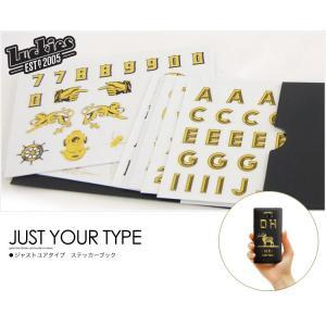 ステッカー just your type(ジャストユアタイプ) LUCKIES シール アルファベット|foranew