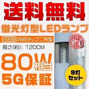 独自5G保証 2倍明るさ保証 LED蛍光灯二代目 ベースライト 120cm 288チップ 80w相当...