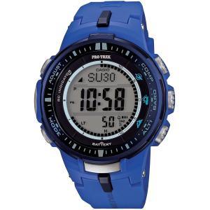 カシオ 腕時計 レディース プロトレック 電波 タフソーラー ブルー PRW-3000-2B CAS...