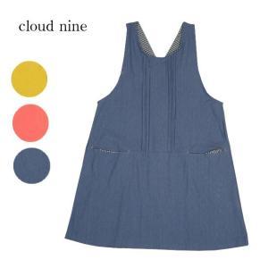 商品名:cloudnine クラウドナイン 胸ピンタック後ろサロペット型チュニックエプロン  無地の...
