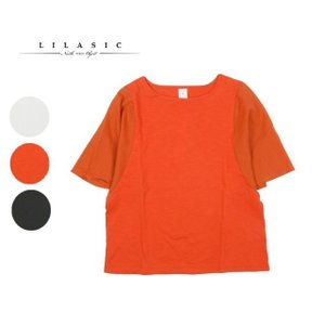north object LILASIC ノースオブジェクト リラシク カットソー tシャツ ベルスリーブ 5分袖 半袖 綿 s58294m forest-shops