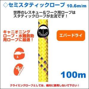エーデルワイス EDELWEISS/セミ-スタティックロープ/エバードライ 10.6mm【100m イエロー】 forest-world