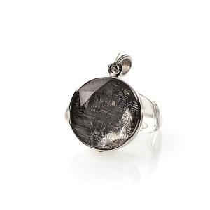 ギベオン隕石 六芒星 ペンダントトップ Sサイズ シルバー(SV925)   パワーストーン 天然石 forestblue
