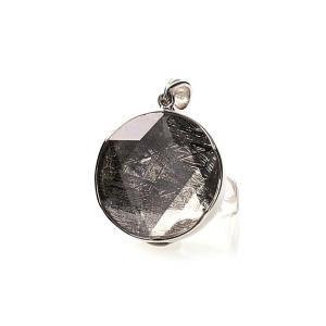 ギベオン隕石 六芒星 ペンダントトップ Mサイズ シルバー(SV925)   パワーストーン 天然石 forestblue