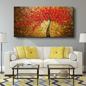 油絵 絵画 手描き 肉筆 寝室 玄関 飾り 壁掛けインテリア美術品  風景絵 木の絵 印象派|forestjapan