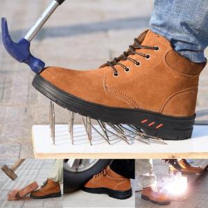 メンズ作業靴安全靴鉄入り 釘踏み抜き防止防滑 スニーカー ワークブーツ エンジニアブーツ