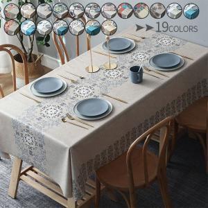セールテーブルクロス 食卓カバー デスクマット 防水 撥油 北欧風 ビニール PVC製 花柄 汚れ防止 傷防止 長方形 モダン おしゃれ|forestjapan