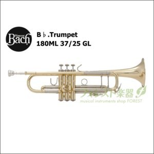 バック<Bach> トランペット Stradivarius 180ML 37/25 GL (ラッカー仕上げ)|forestmusic