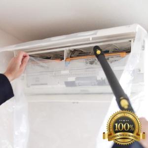 エアコン 掃除 カバー 洗浄 シート 使いやすい 透明 壁掛け用 スチームクリーナー 対応<国内正規...