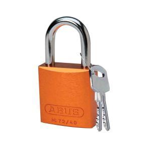 ロックアウトツール アルミ製 パドロック オレンジ 25.4mm シャックル|foresttech