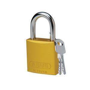 ロックアウトツール アルミ製 パドロック 黄 25.4mm シャックル|foresttech