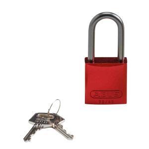 ロックアウトツール アルミ製 パドロック 赤 38.1mm シャックル|foresttech