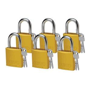ロックアウトツール アルミ製 パドロック 黄 25.4mm シャックル 6個入り|foresttech