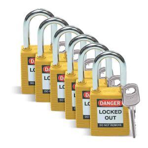 セイフティーパドロック 黄 6個入り 非導電性|foresttech
