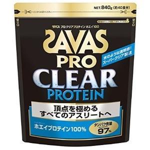 ザバス SAVAS プロ クリアプロテイン ホエイ100 <18食分>378g|formacho365