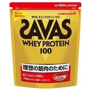 ザバス SAVAS ホエイプロテイン100 ココア味<120食分> 2,520g|formacho365