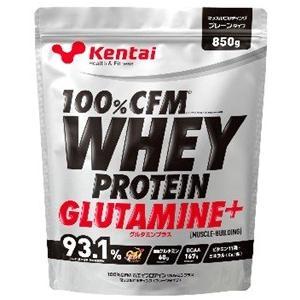 Kentai(ケンタイ) 100%CFMホエイプロテイン グルタミン+ プレーンタイプ 850g|formacho365