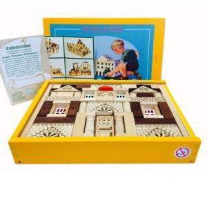 黄色い木箱のドイツの積木 リトルパレス82pcs Ebert エバート|formalshopping