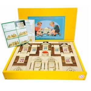 黄色い木箱のドイツの積木 パレス143pcs Ebert エバート|formalshopping
