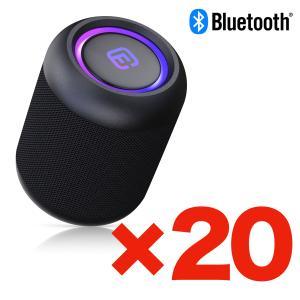 (箱売り20個入) バルク販売 Bluetooth スピーカー 小型 高音質 重低音 防水 防塵 SDカード お風呂 LED ワイヤレス ハンズフリー スマホ CW1LC|forties