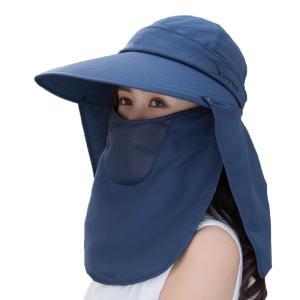 つば広帽子 レディース UVカットハット 紫外線対策 サンバイザー 取外し可 折畳み可 日焼け止め ...