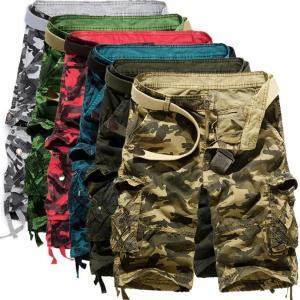 カーゴパンツ メンズ 作業着 太め ハーフパンツ メンズ カジュアル  半パン ミリタリ 大きいサイズ  ショートパンツ ポケット 迷彩 夏|fortuna-gemma