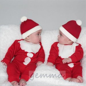 ロンパース 新生児 オールインワン キッズ  パジャマ ベビー 部屋着 かわいい サンタクロースcos クリスマス 冬 70~100cm|fortuna-gemma