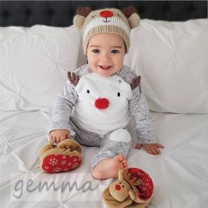 ロンパース 新生児 セットアップ 上下セット キッズ パジャマ ベビー 部屋着 かわいい クリスマス 冬 70~100cm |fortuna-gemma