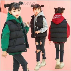 コート ジャケット ベスト パーカー キッズ 子供服 女の子 中綿コートノースリーブ 厚手 保温 暖かい韓国子供服|fortuna-gemma