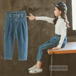 デニムパンツ 女の子 ボトムス パンツ 綿100% ロングパンツ 可愛い 春秋新作 カジュアルパンツ デニムズボン110cm〜170cm|fortuna-gemma