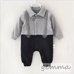 d097854f3a670 オールインワン ロンパース フォーマル スーツ 男の子 ベビー服 可愛い タキシード 赤ちゃん キッズ 出産祝い 結婚式 0-12ヶ月