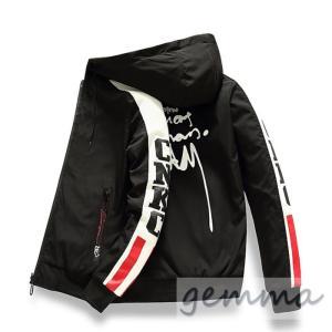 リバーシブル メンズ  マウンテンパーカー メンズジャケット  薄手 ウインドブレーカー ジップパーカーブルゾン カジュアル オシャレ 防風|fortuna-gemma