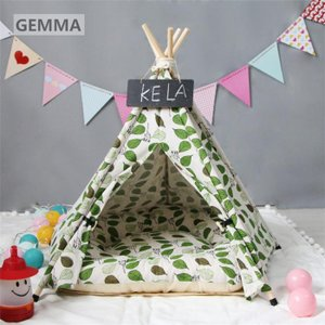 ペットベッド ペットテント 猫 犬 猫ベッド 犬ペット 立体 木の葉 小型犬 無地テント 可愛い 暖かい 保温 防寒 折り畳め 遊べ部屋 洗える|fortuna-gemma