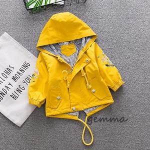 女の子 トレンチコート 春コート スプリングコート 子供服 キッズ ジュニア アウター 可愛い ジャケット ウィンドブレーカー 1-2-3-4歳 80〜100cm|fortuna-gemma