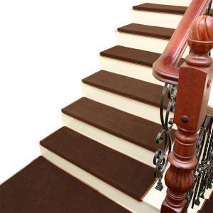 階段マット  防音 キズ防止  滑り止めマット 吸ペット 絨毯 木製階段 守る 大判サイズ 転倒防止...