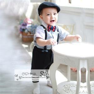 スーツ男の子キッズ 男の子ベビータキシード 結婚式 夏 子供服 フォーマル 男の子 半袖 キッズ ベビー服上下セット|fortuna-gemma