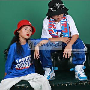キッズ ダンス衣装 ヒップホップ HIPHOP 子供 男の子 女の子 ダンス トップス tシャツ ダンスパンツ ダンス衣装 ジャズダンス|fortuna-gemma