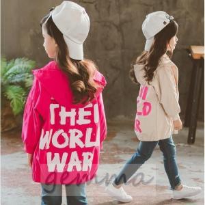 ウィンドブレーカー キッズ 女の子 アウター 子供服 ジップアップパーカー マウンテンパーカー ジャケット ブルゾンジャンパー 防風|fortuna-gemma
