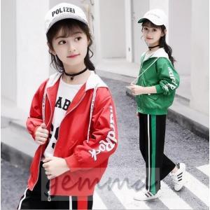 子供ジャージ 上下セット スウェット トレーニングウェア 女の子 ジャケット マウンテンパーカー スポーツウェア キッズ ジュニア|fortuna-gemma