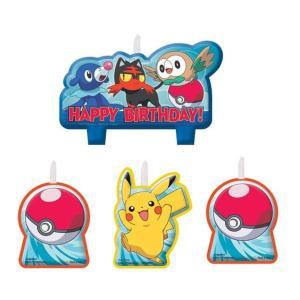 ポケモン ピカチュー バースデー キャンドル ろうそく 4本セット 誕生日 ケーキ デコレーション