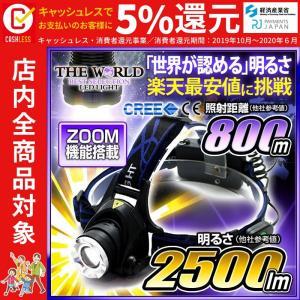 ヘッドライト 懐中電灯 LEDヘッドライト 超強力LEDライト フラッシュライト ヘッドランプ 2500LM相当 fl-sh005  本体のみ|fortune